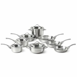 Best rated stainless steel cookware sets. Calphalon Contemporary 13-Pcs Stainless
