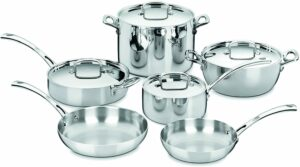 Best cookware sets 2021. Cuisinart French Classic Tri-Ply Stainless — 10-Piece Cookware Set